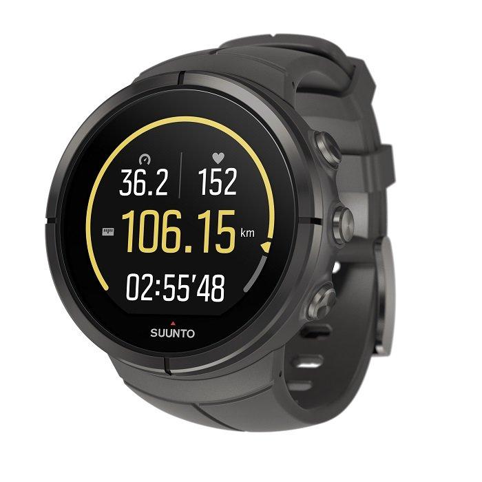 Černé digitální sportovní chytré hodinky Spartan Ultra Titanium Stealth, Spartan