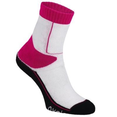 Bílo-červené ponožky Oxelo - velikost 31-34 EU