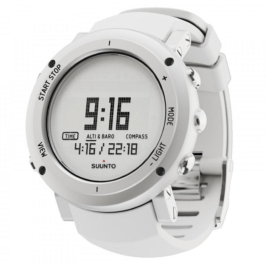 Bílé digitální hodinky CORE ALU PURE, Suunto