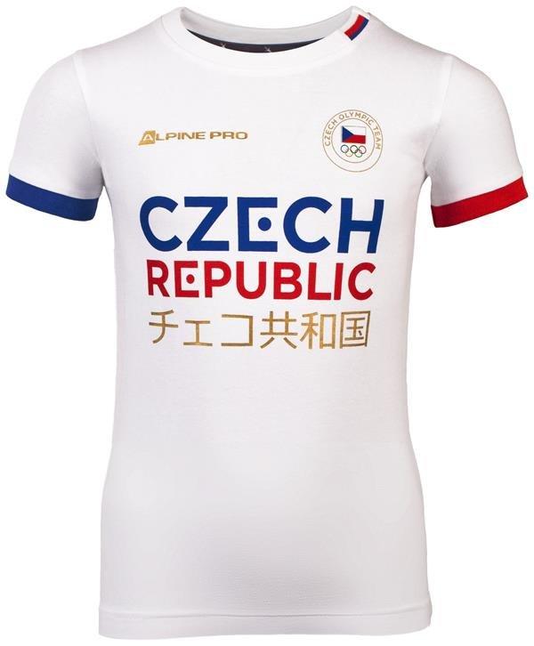 Bílé dětské tričko s krátkým rukávem Alpine Pro