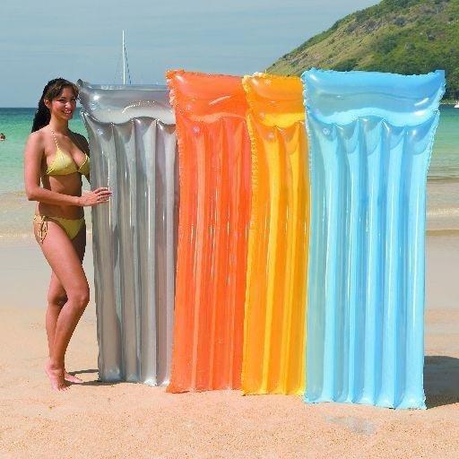 Transparentní nafukovací lehátko - délka 183 cm a šířka 76 cm