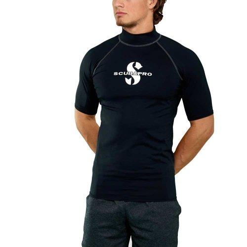 Černé pánské lycrové tričko Black RG UPF 50, Scubapro