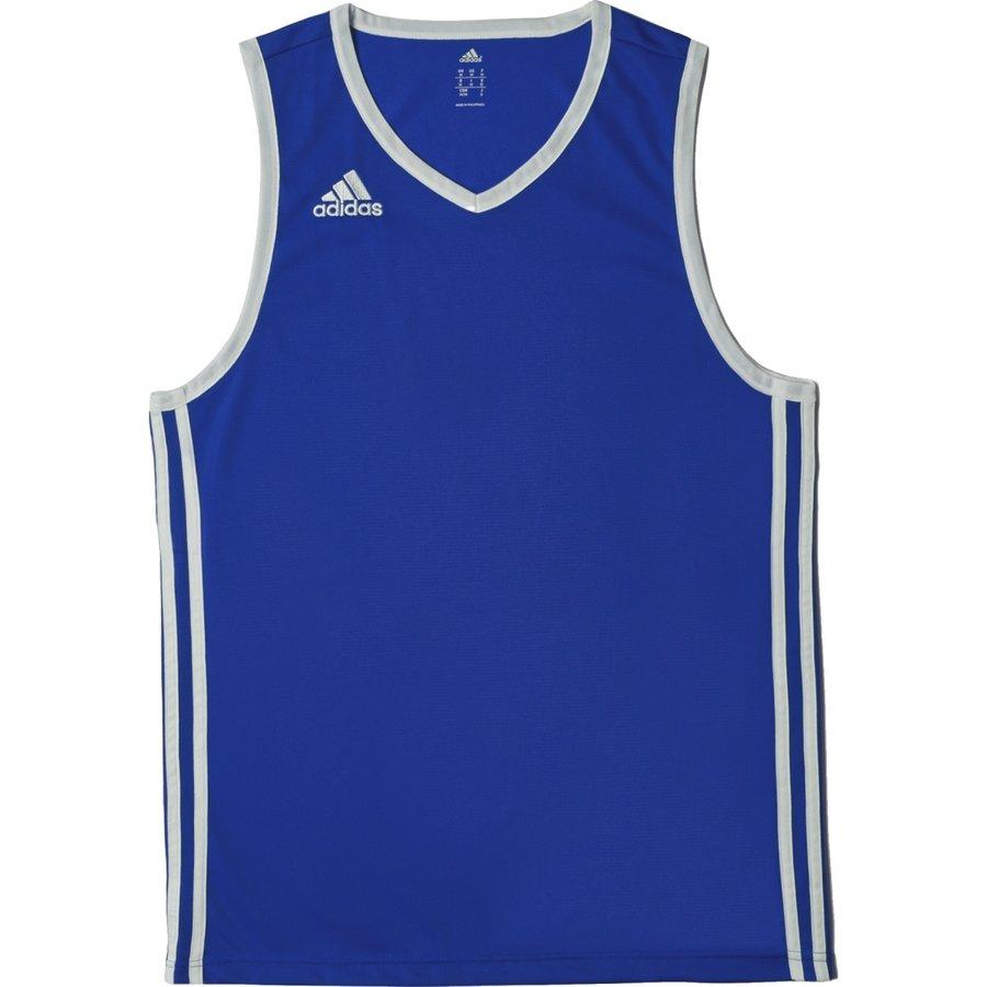 Modrý basketbalový dres Commander Jer, Adidas - velikost S