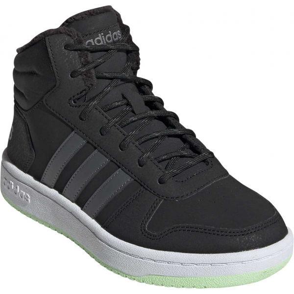 Šedé chlapecké zimní boty Adidas