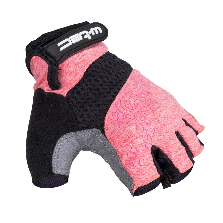 Růžovo-šedé dámské cyklistické rukavice Atamac AMC-1038-17, W-TEC