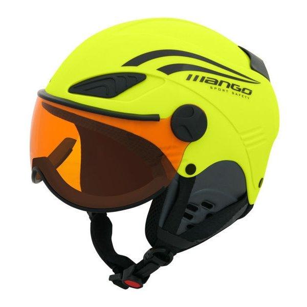 Žlutá dětská lyžařská helma Mango - velikost 53-55 cm