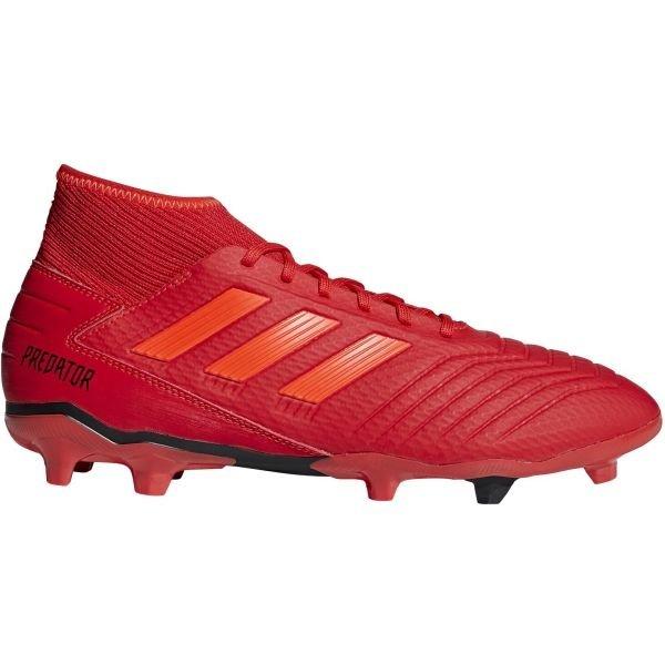 Červené pánské kopačky lisovky Adidas - velikost 44 EU