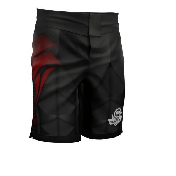 Černo-červené boxerské trenky DBX, Bushido