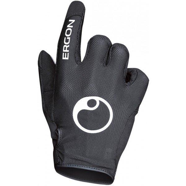 Černé cyklistické rukavice Ergon - velikost XXL