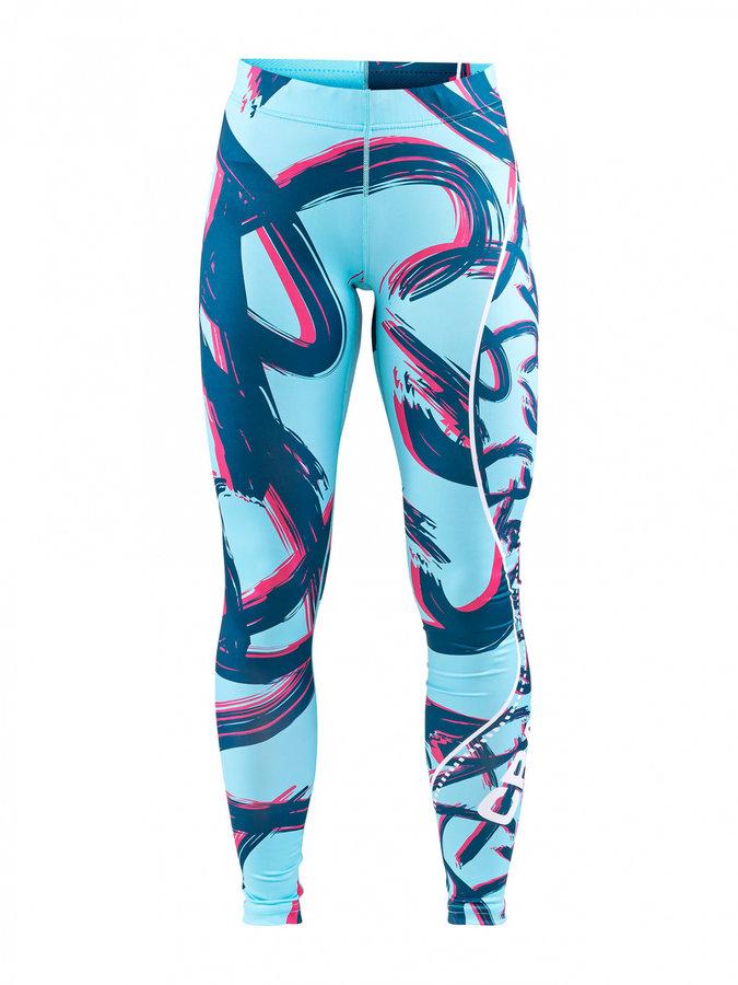 Modré dlouhé dámské cyklistické kalhoty Craft - velikost S