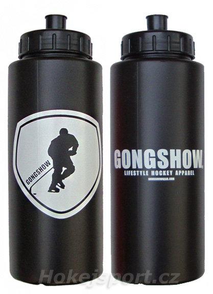 Černá hokejová láhev na pití GongShow - objem 1 l
