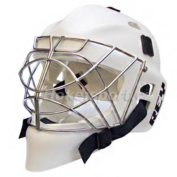 Brankářská maska Rey HOMG 016 PE Boy White Provedení: maska bílá, mřížka bílá