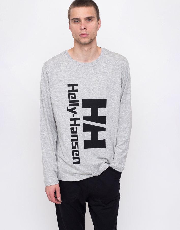 Šedé pánské tričko s dlouhým rukávem Helly Hansen