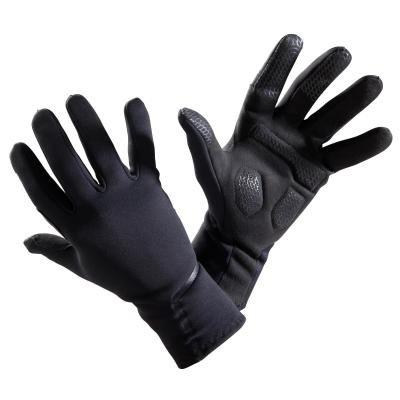 Černé cyklistické rukavice B'TWIN