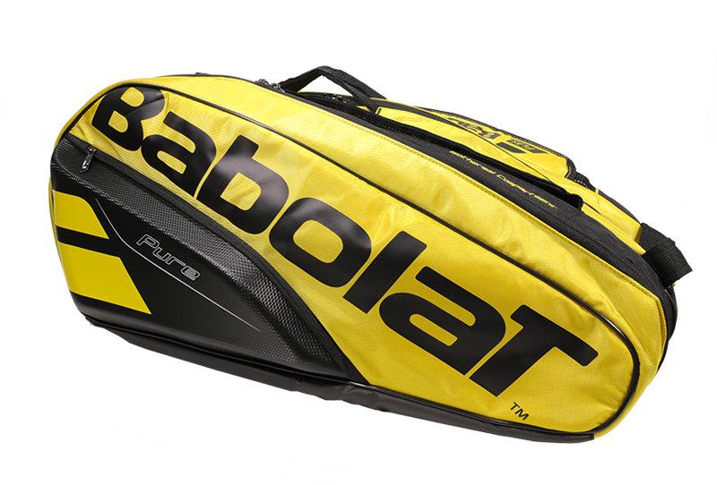 Černo-žlutá tenisová taška Pure Aero Racket Holder, Babolat