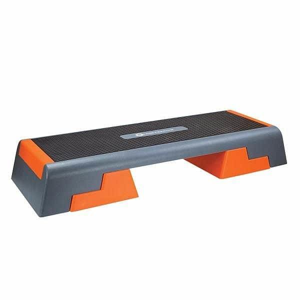 Oranžovo-šedý aerobic step HMS