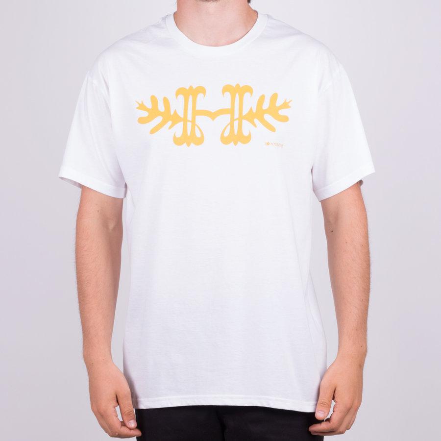 Bílé pánské tričko s krátkým rukávem Habitat