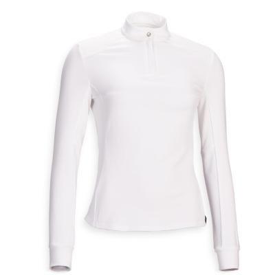 Bílé dámské jezdecké tričko Fouganza - velikost 40