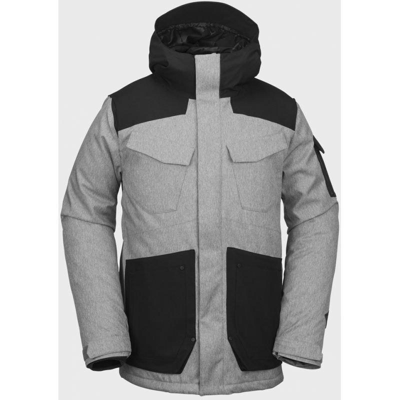 Černo-šedá pánská snowboardová bunda Volcom
