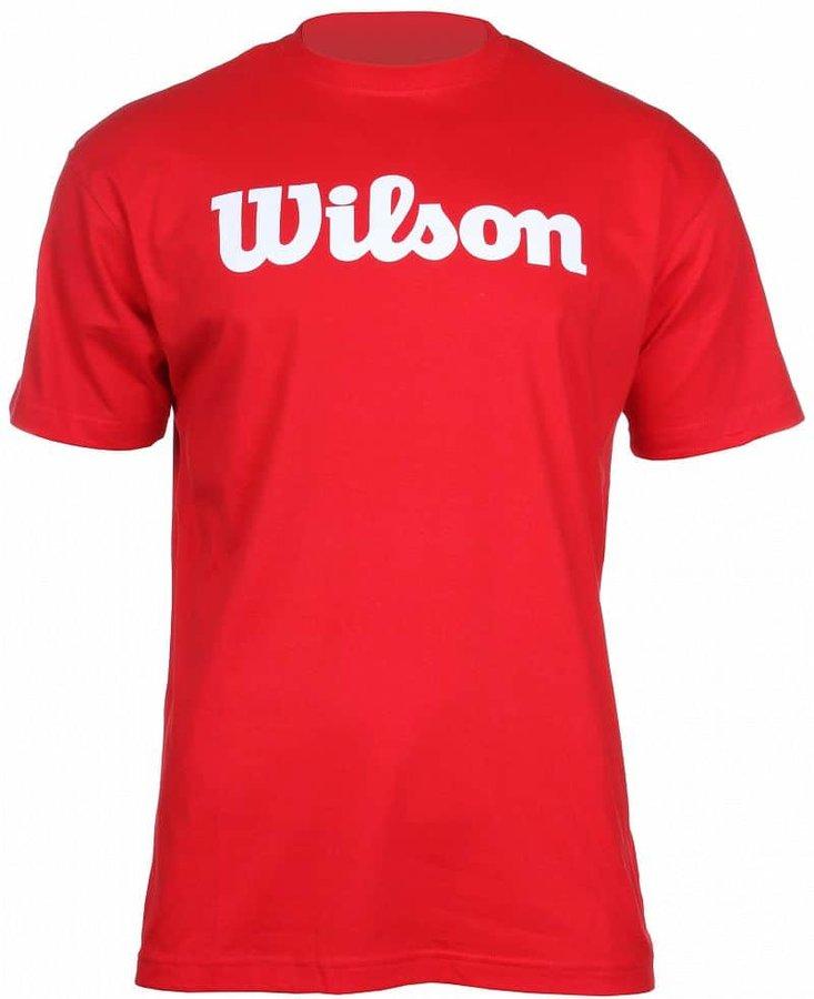 Červené pánské tenisové tričko Wilson