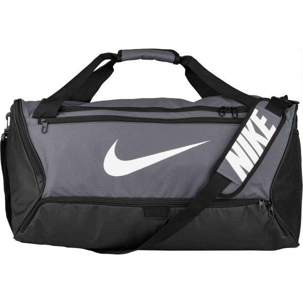 Bílo-šedá sportovní taška Nike