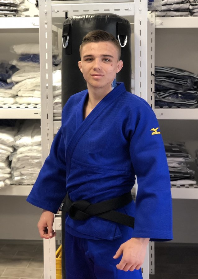 Modré kimono na judo Mizuno