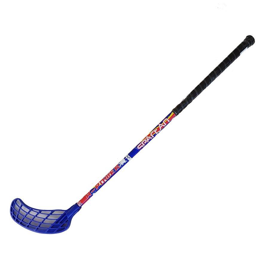 Levá florbalová hokejka Glass Fibre, Spartan - délka 81 cm