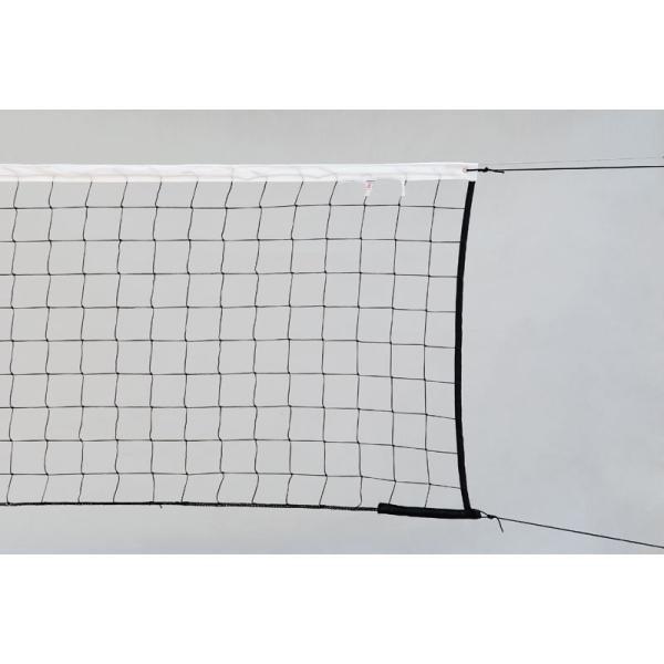 Černá nohejbalová síť s lankem KV Řezáč - délka 950 cm