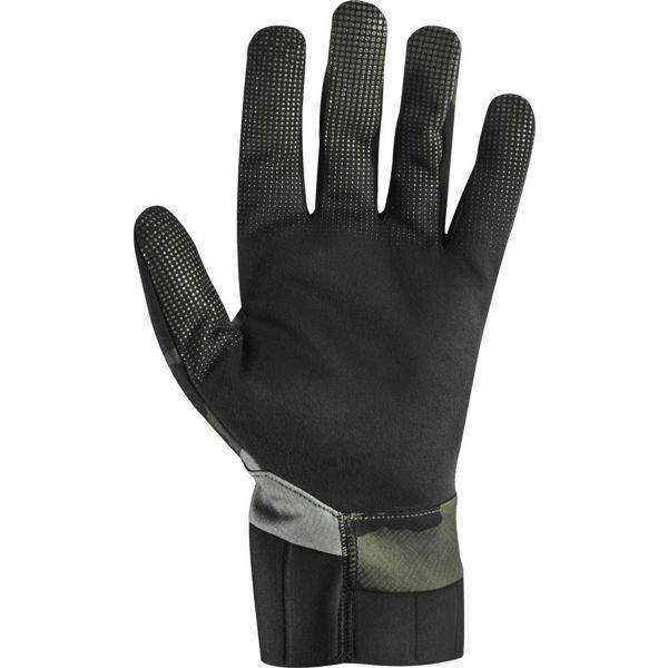 Zelené zimní pánské cyklistické rukavice Fox