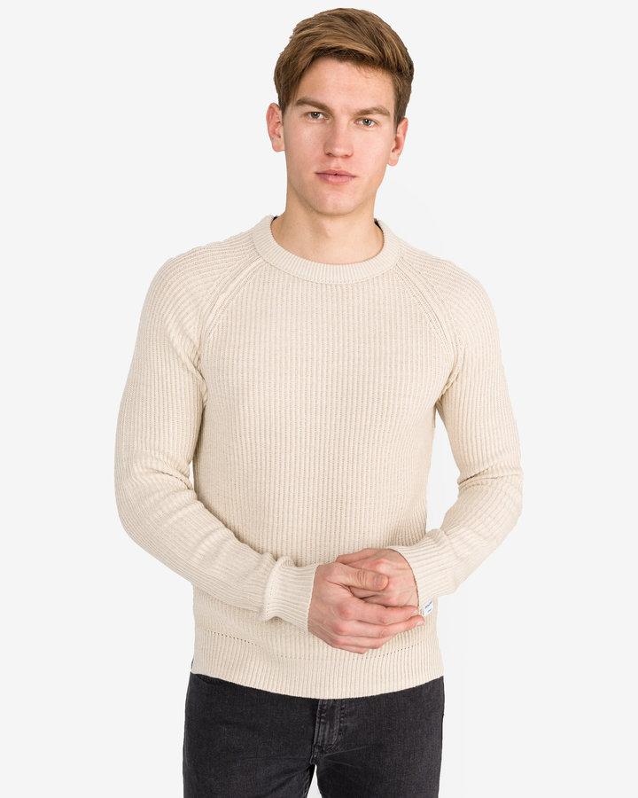 Béžový pánský svetr Jack & Jones
