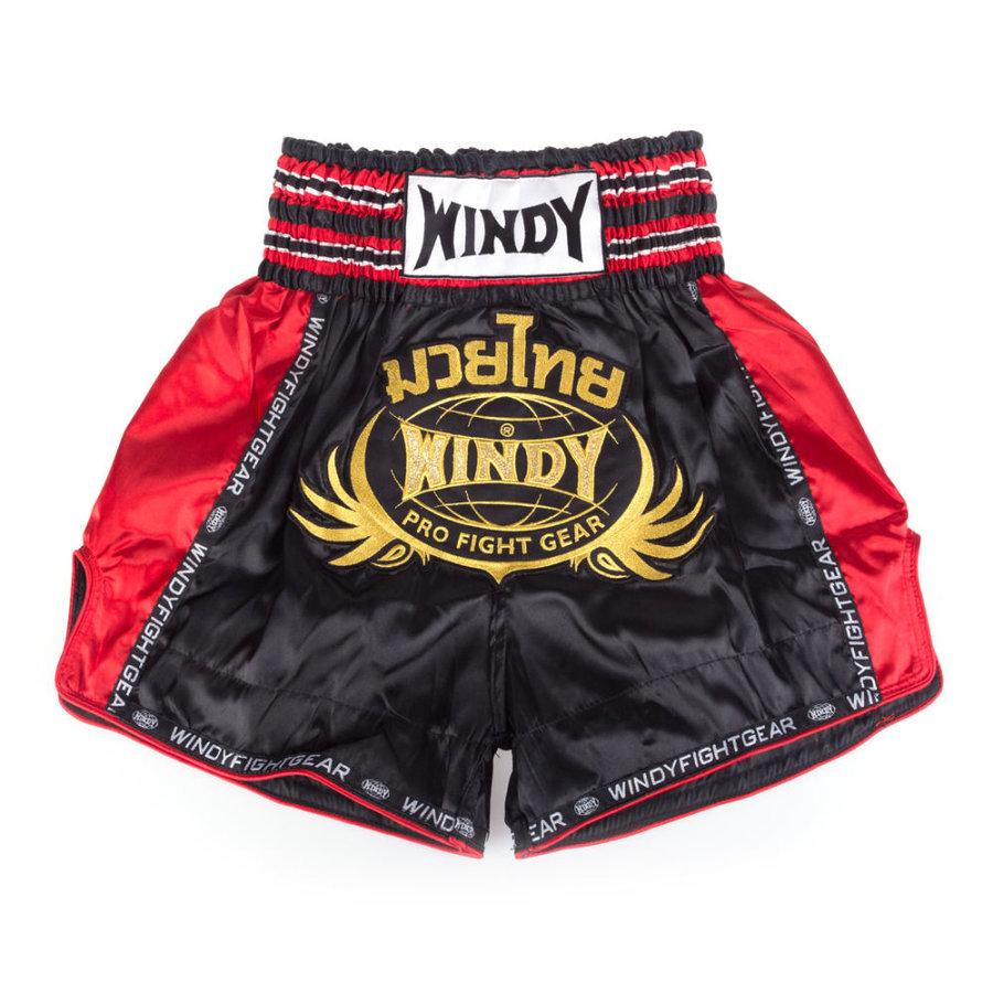 Černo-červené thaiboxerské trenky WINDY