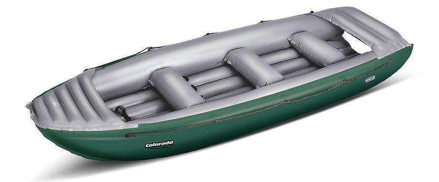 Zelený nafukovací raft pro 6 osob Colorado, Gumotex