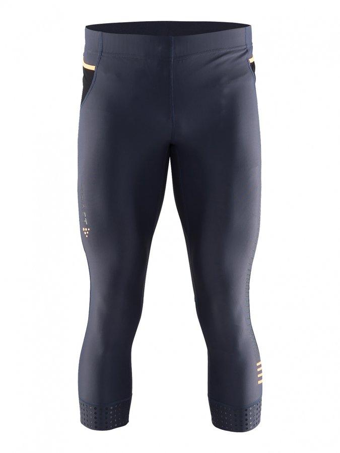 Šedé 3/4 pánské běžecké kalhoty Grit Knickers, Craft - velikost XXL