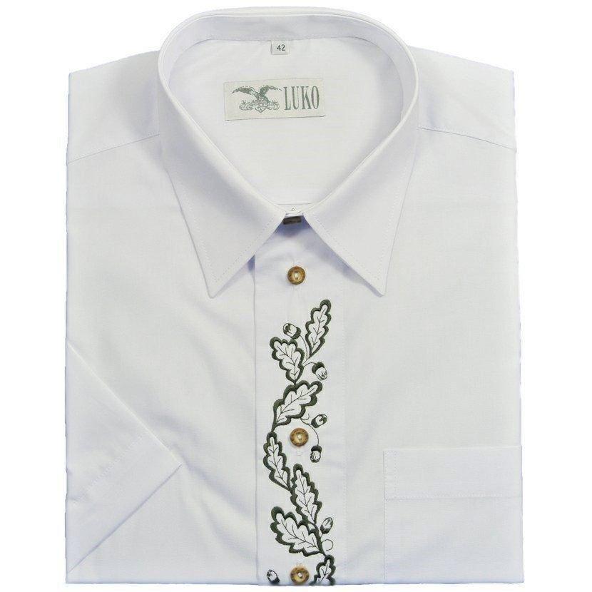 Bílá pánská lovecká košile s krátkým rukávem Luko