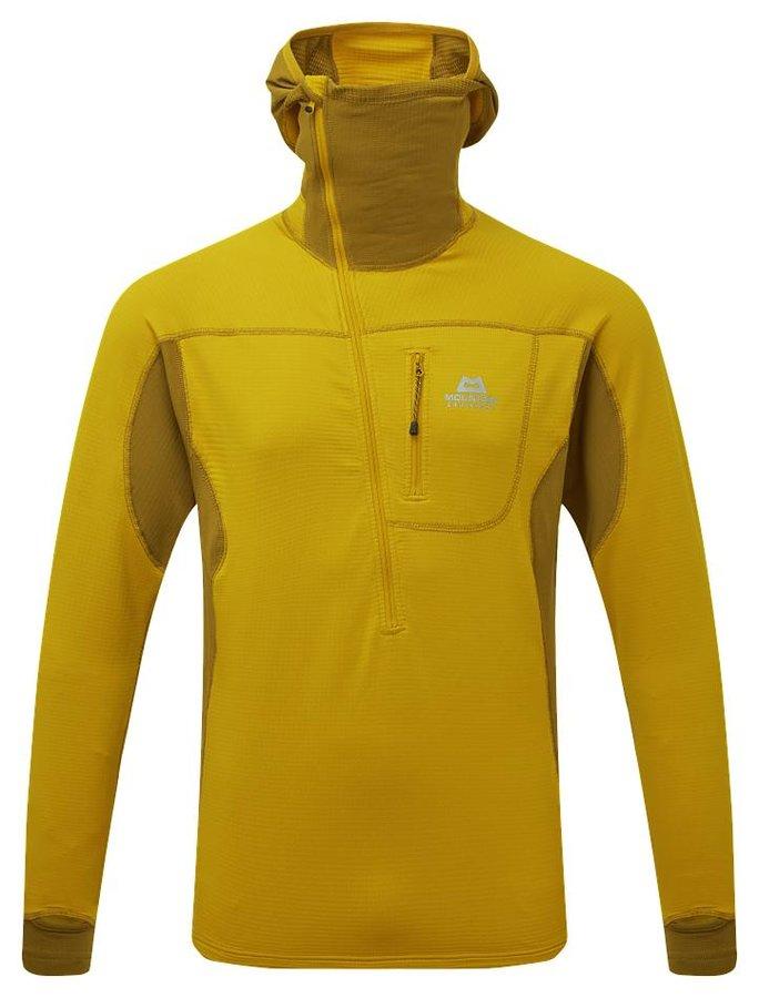 Žlutá pánská turistická mikina s kapucí Mountain Equipment
