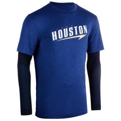 Modré pánské basketbalové tričko s dlouhým rukávem Tarmak