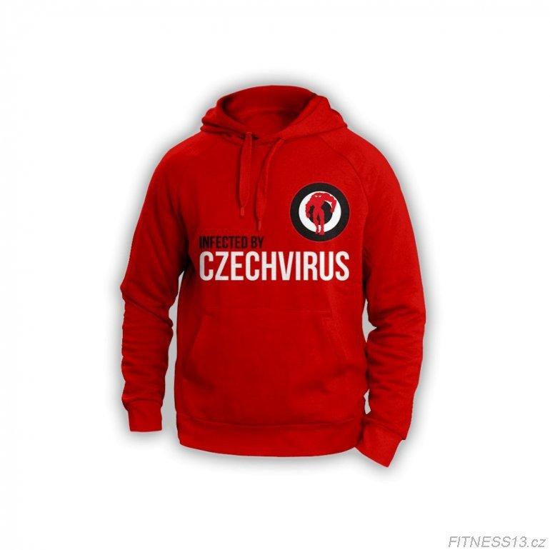 Červená pánská mikina Czech Virus