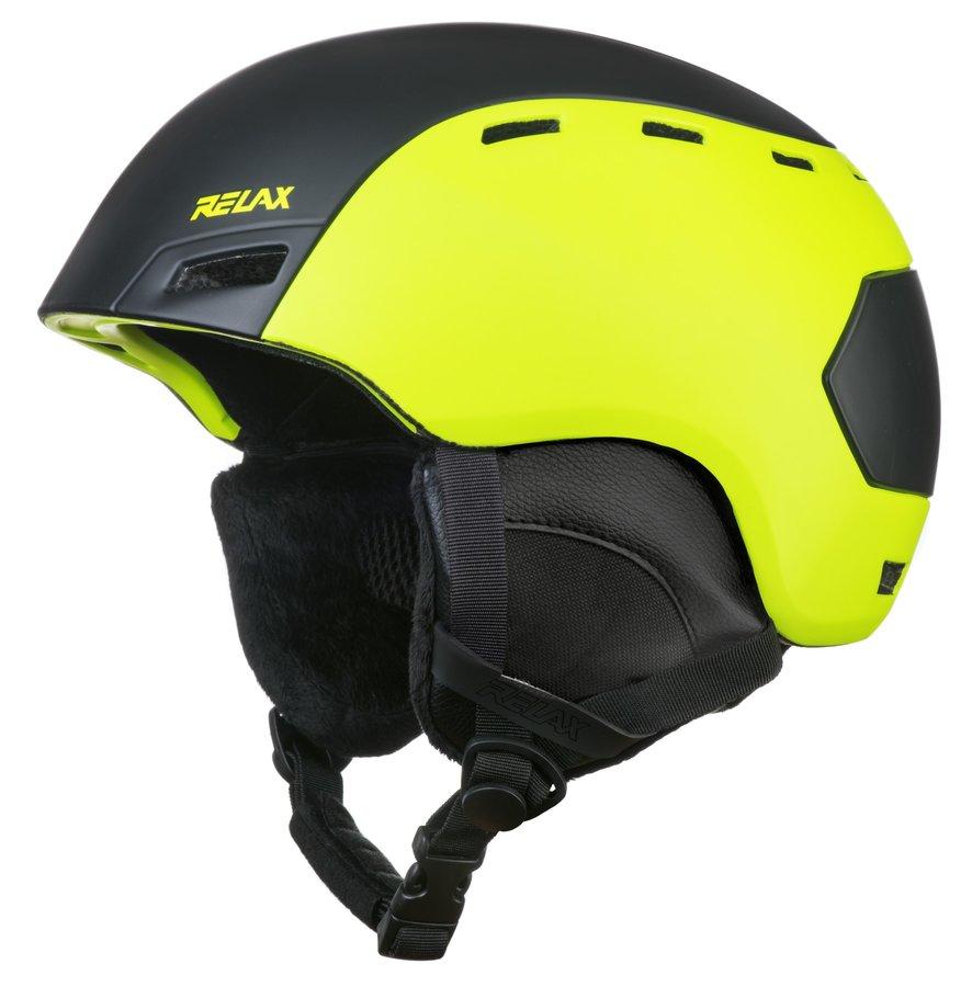 Žlutá lyžařská helma Relax - velikost S-M