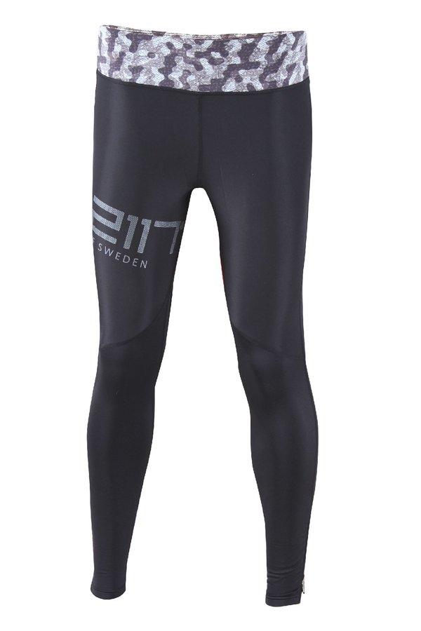 Bílo-černé pánské běžecké kalhoty Sävast - velikost M
