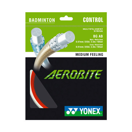 Badmintonový výplet Aerobite, Yonex - průměr 0,61 mm a průměr 0,67 mm