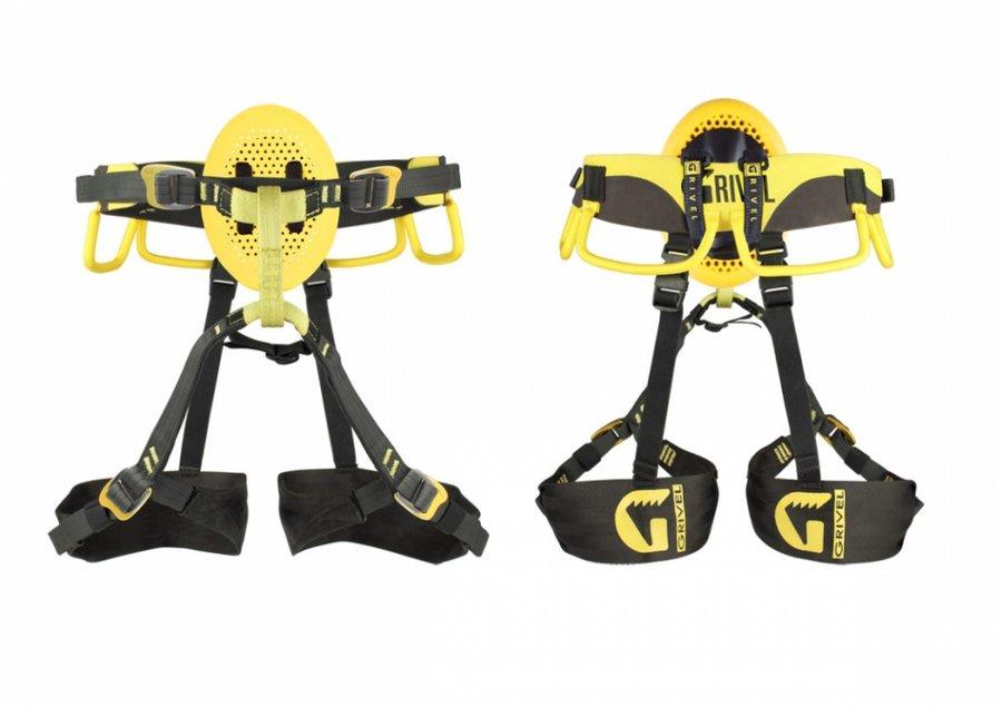 Černo-žlutý horolezecký úvazek Poseidon, Grivel