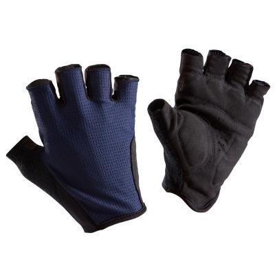 Modré cyklistické rukavice B'TWIN