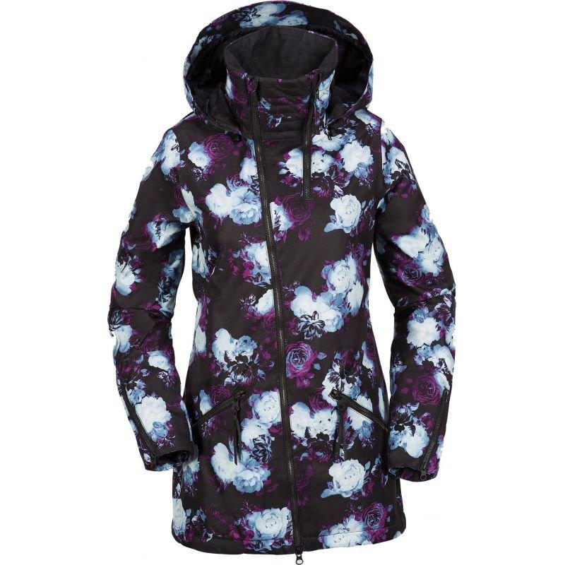 Bílo-černá dámská snowboardová bunda Volcom - velikost M