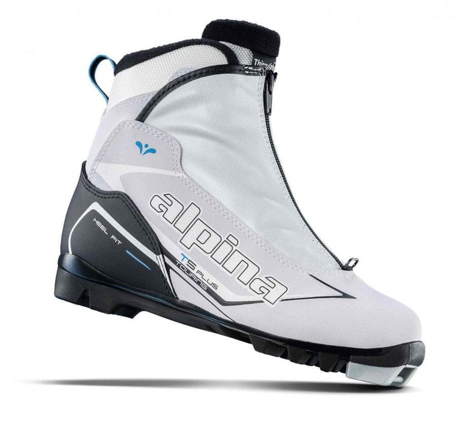 Bílé dámské boty na běžky Alpina