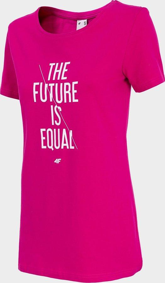 Růžové dámské tričko s krátkým rukávem 4F