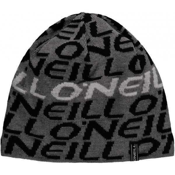Černo-šedá pánská zimní čepice O'Neill