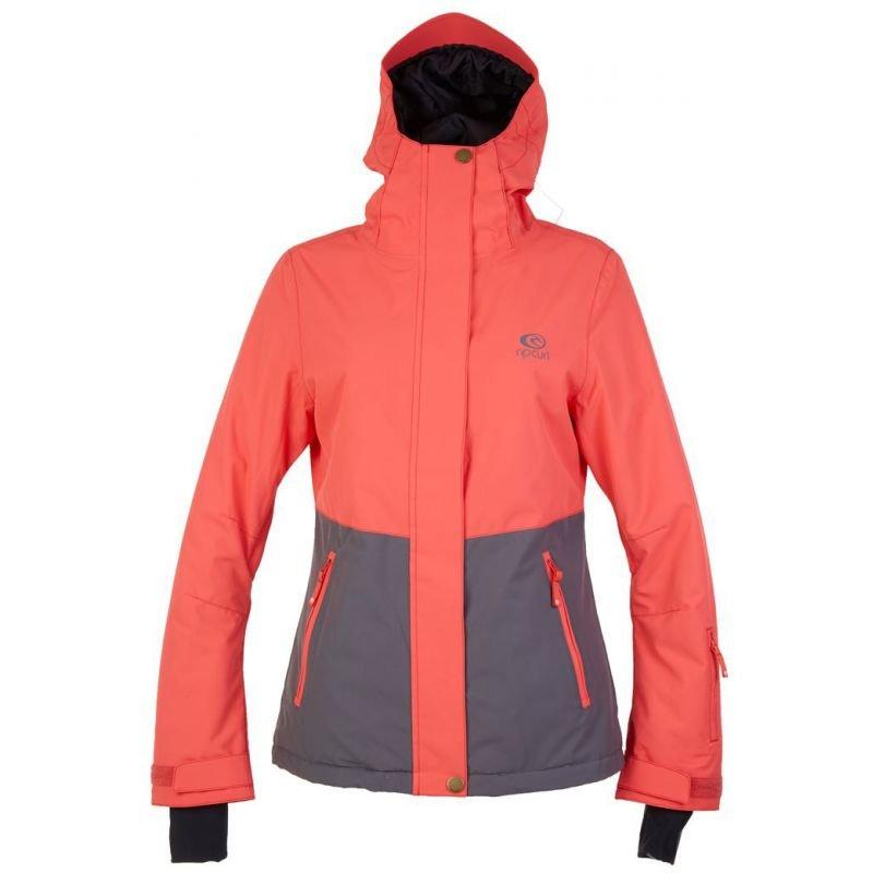 Oranžová dámská snowboardová bunda Rip Curl