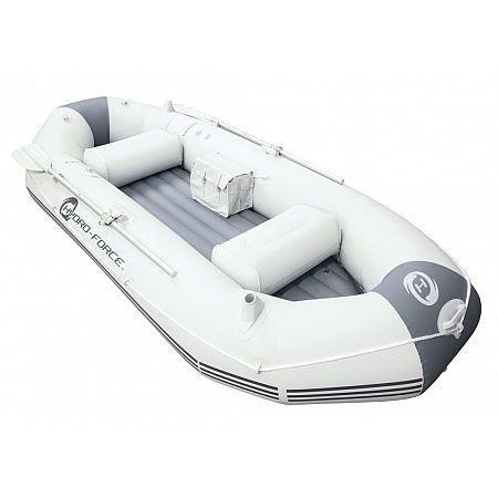 Bílý rybářský člun s nafukovacím dnem pro 2 osoby + 1 dítě Bestway
