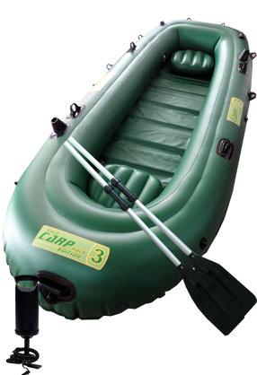 Zelený nafukovací rybářský člun s lamelovou podlahou pro 2-3 osoby Carp Rider 3, Zico