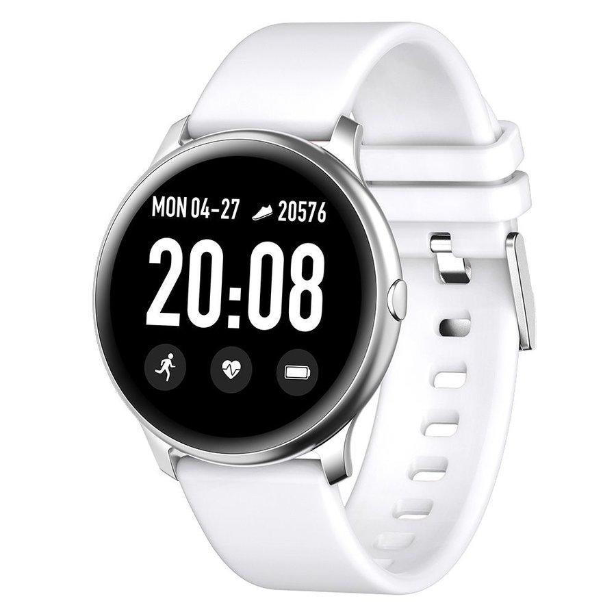 Bílé digitální chytré hodinky Roundband 2, Smartomat